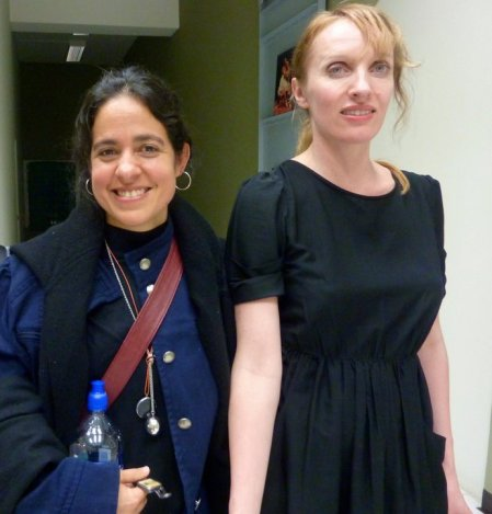 Vicky Cortez with Monica Emilie Herstad at Teatro Compania Nacional Aduana, March 8th 2011