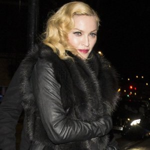 FAMEFLYNET - Madonna Seen Arriving At Mr Chow In London